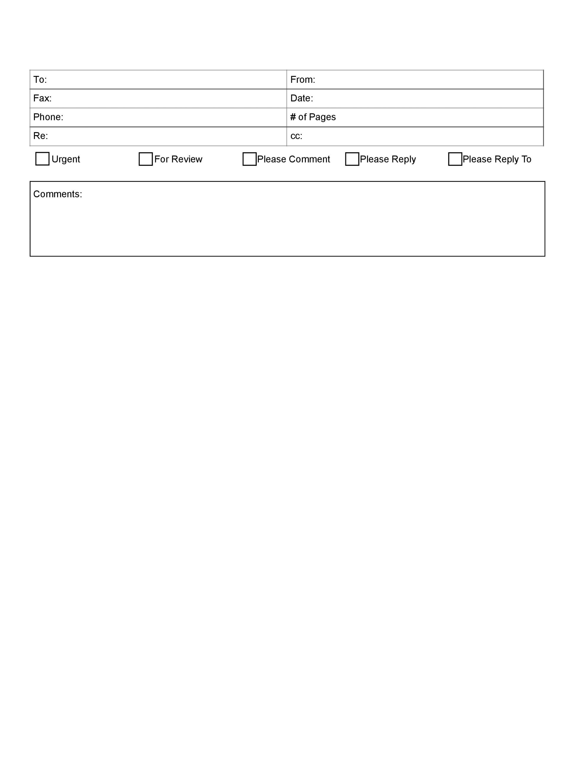 free fax cover sheet 01