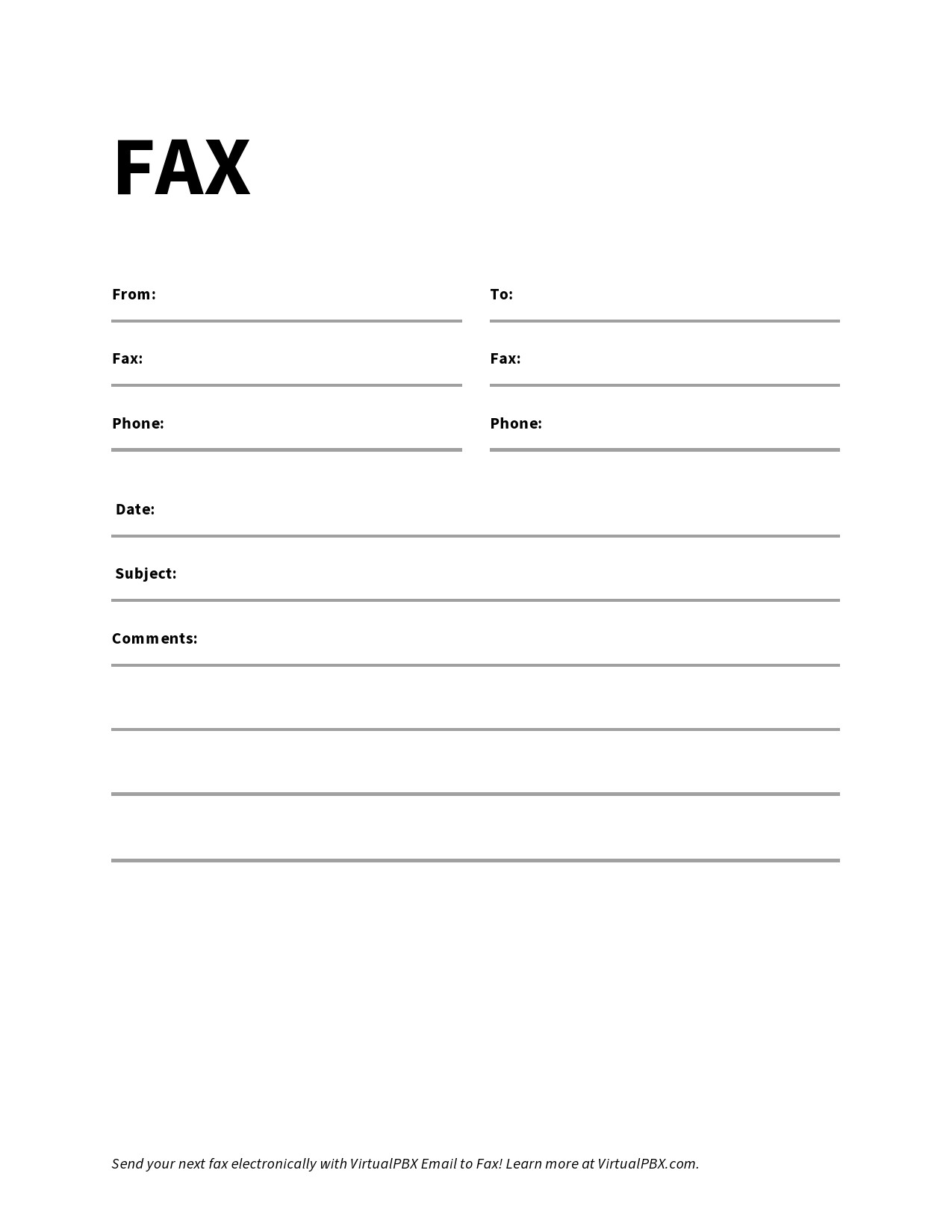 free fax cover sheet 09