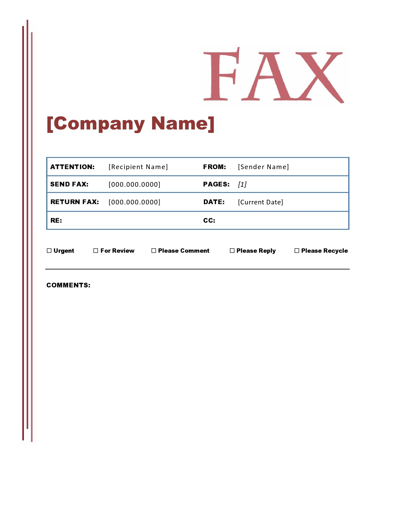 free fax cover sheet 15