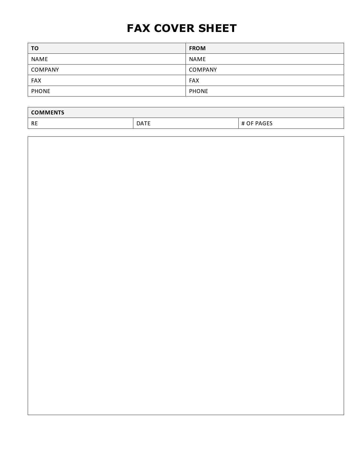 free fax cover sheet 16