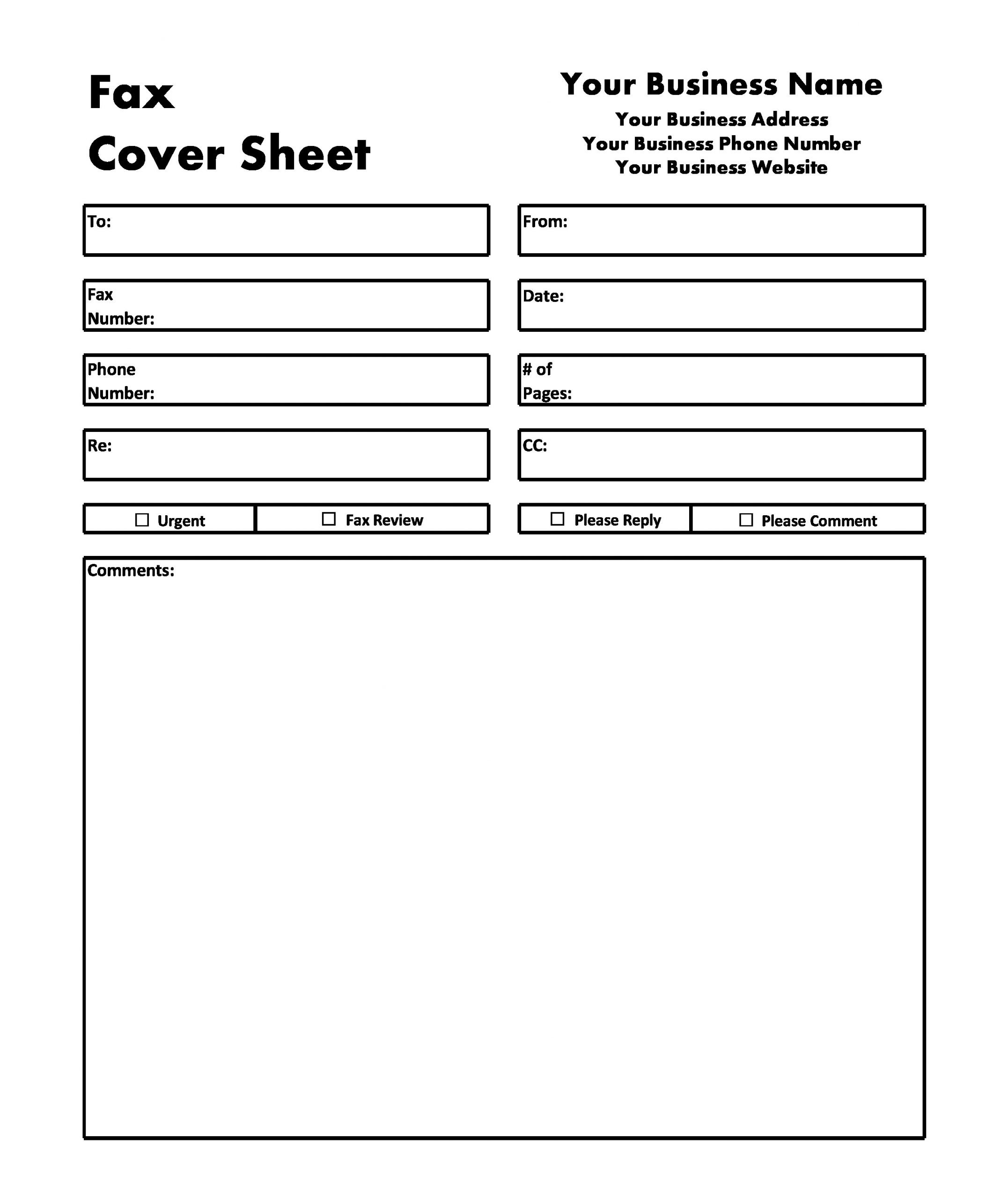 free fax cover sheet 17