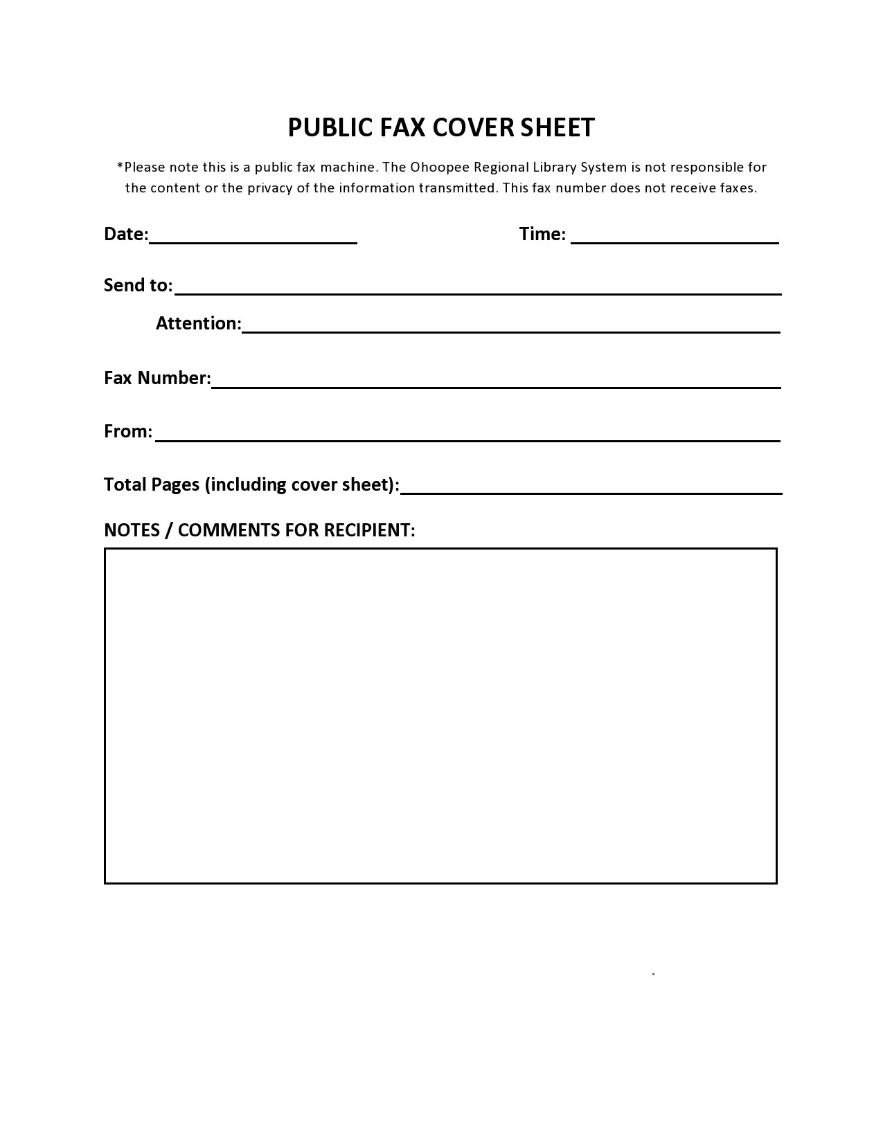 free fax cover sheet 18