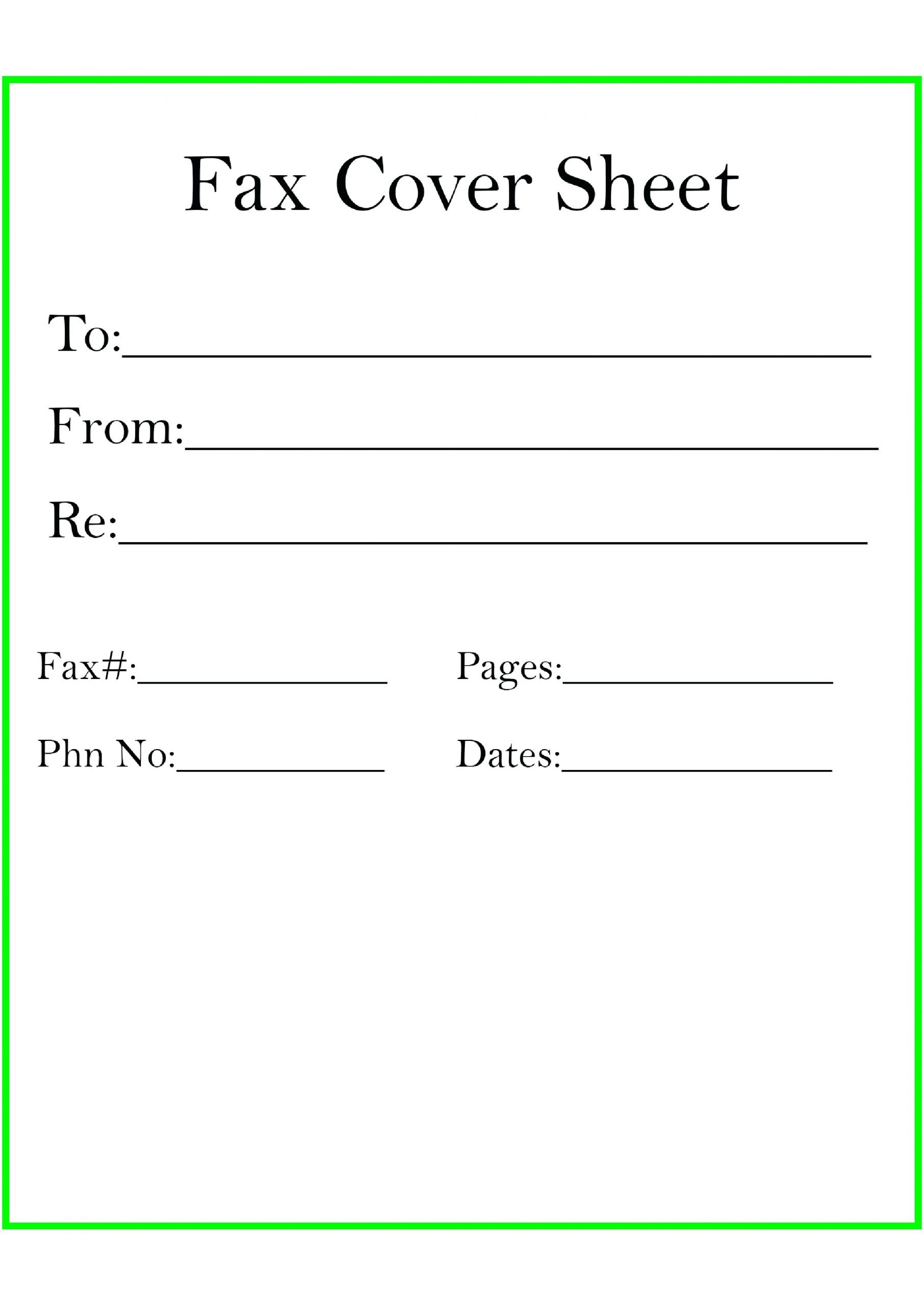 free fax cover sheet 23