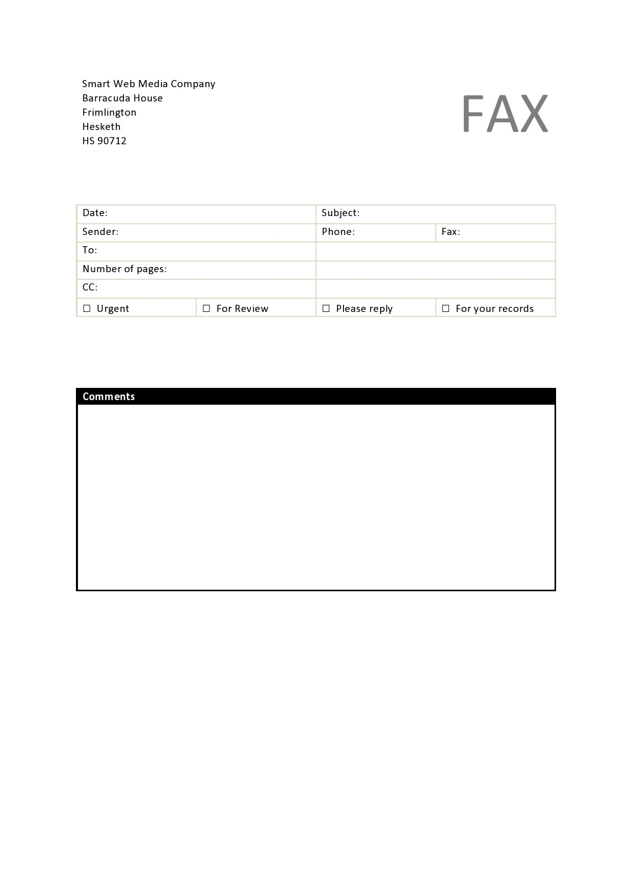 free fax cover sheet 25