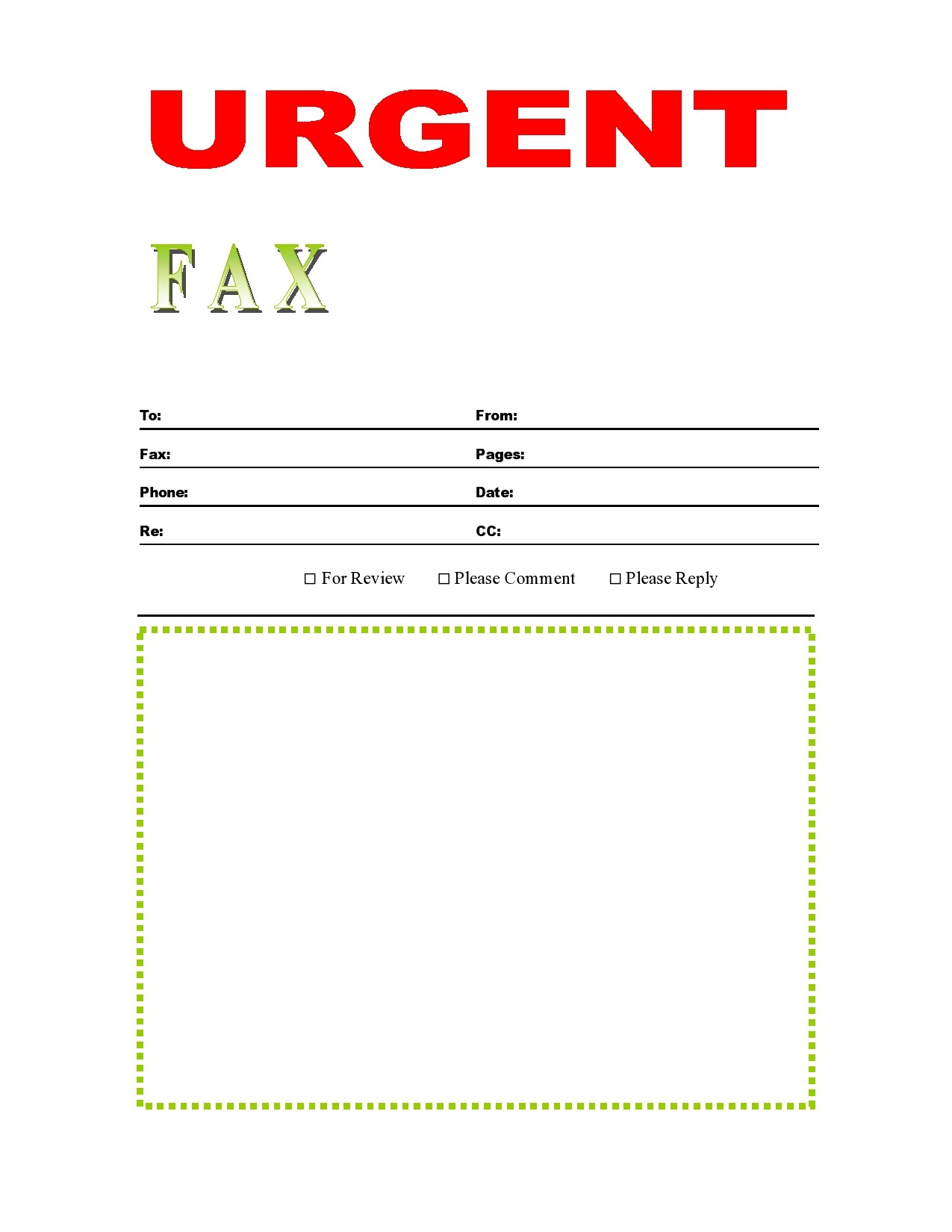 free fax cover sheet 29