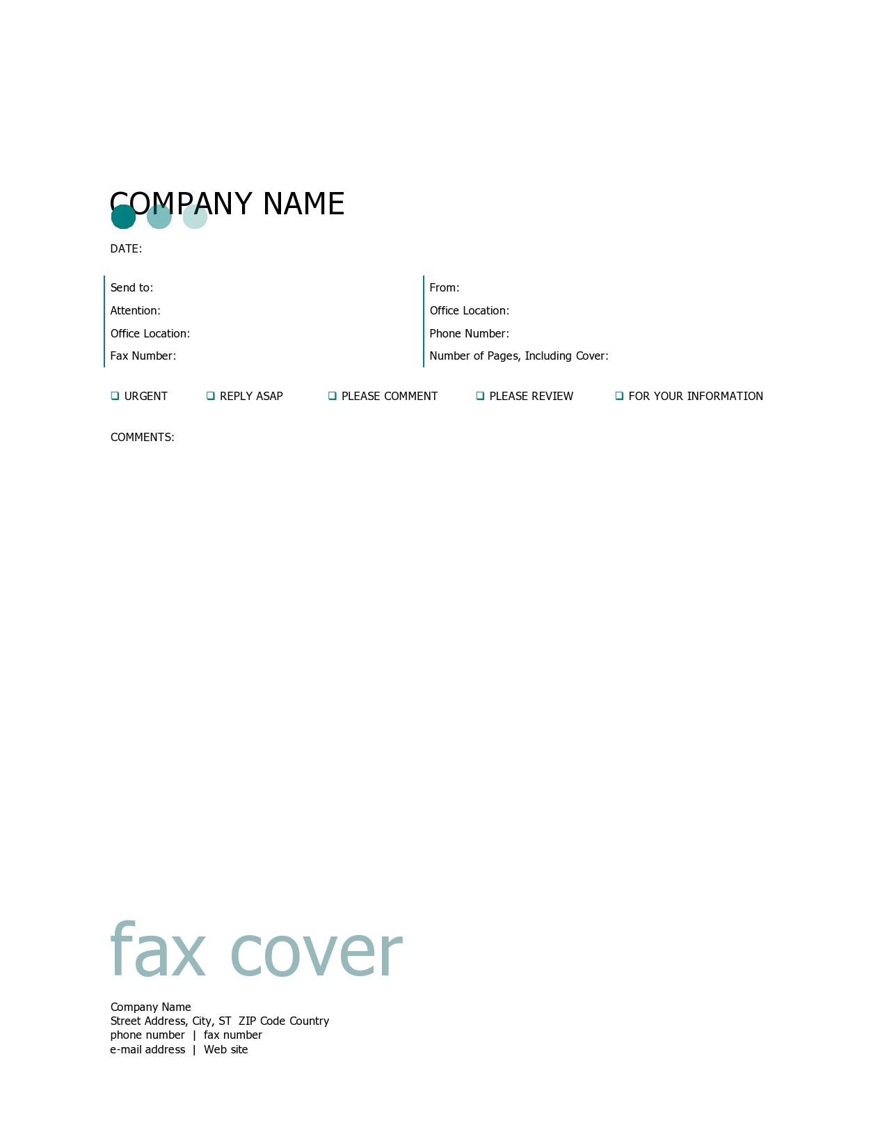 free fax cover sheet 32