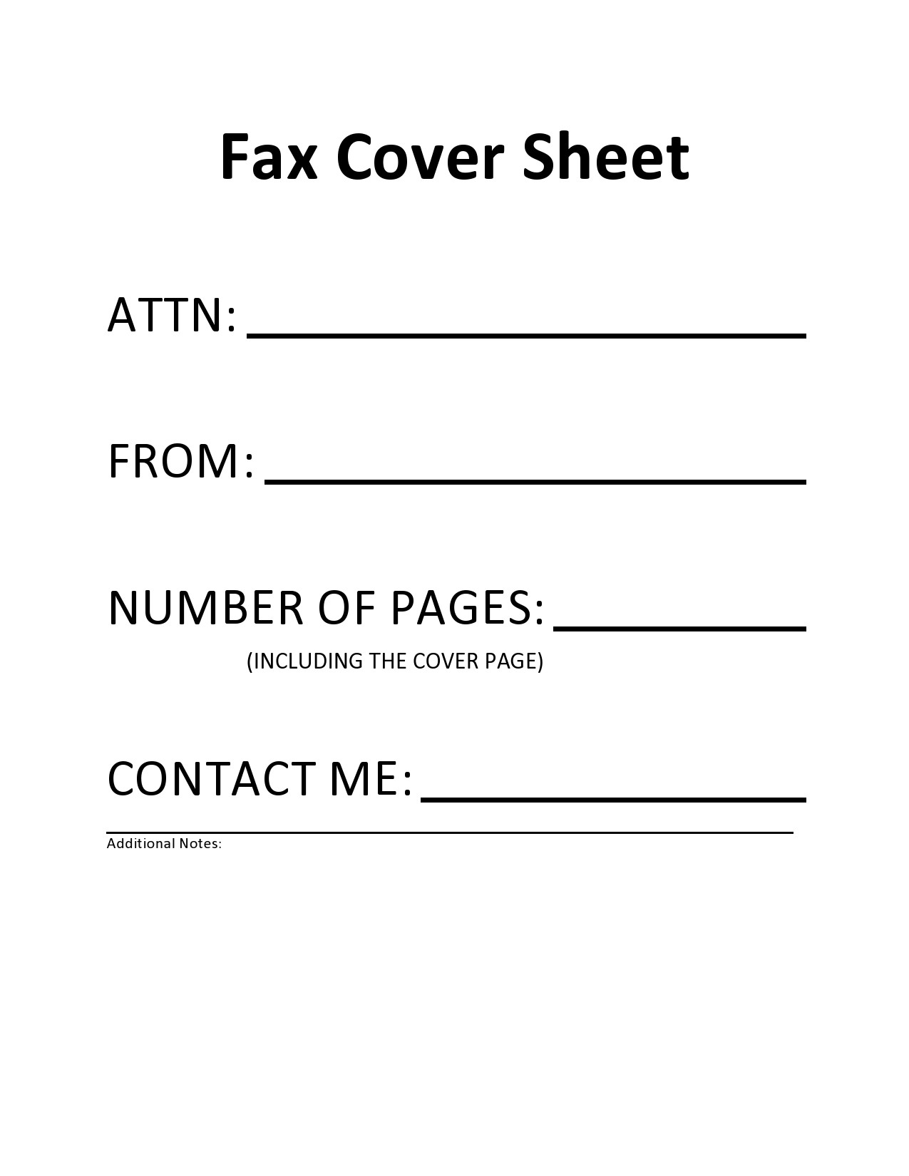 free fax cover sheet 33