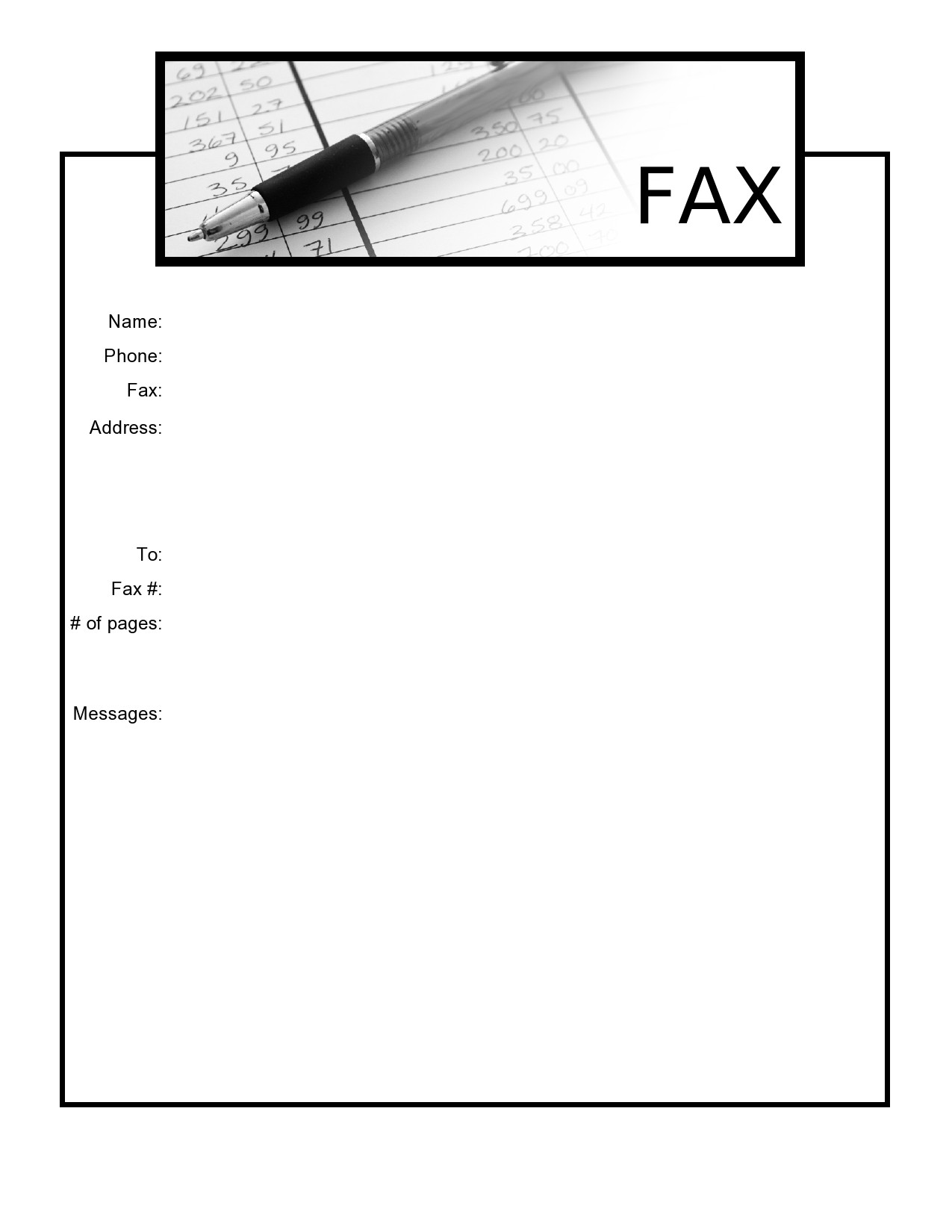free fax cover sheet 35