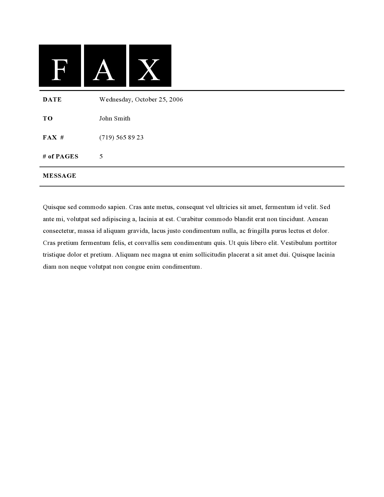 free fax cover sheet 36