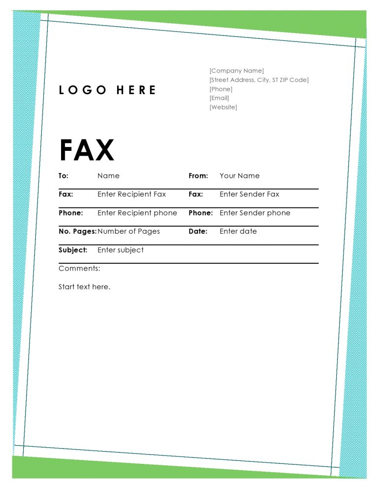 50 Printable Fax Cover Sheet Templates [PDF, Word]