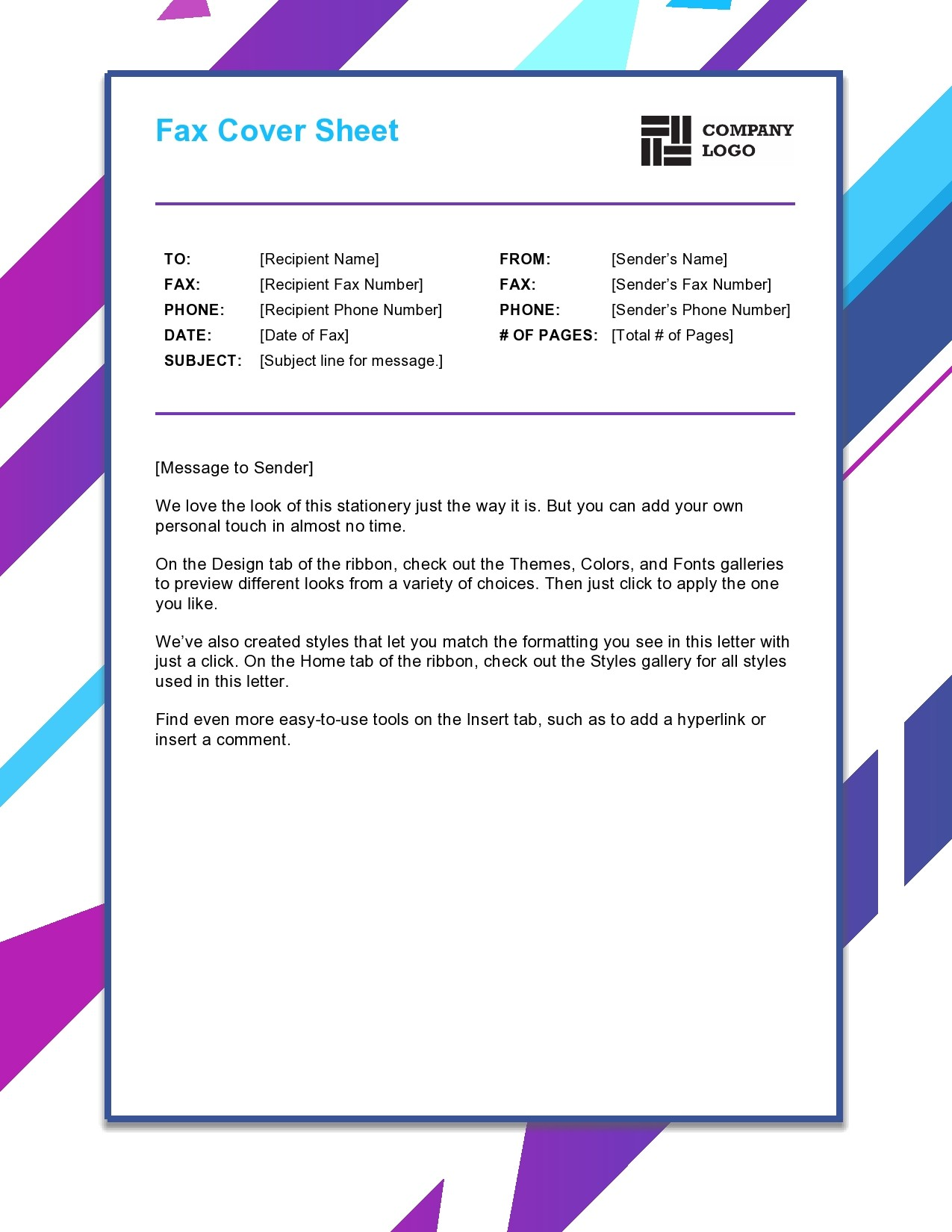 free fax cover sheet 41