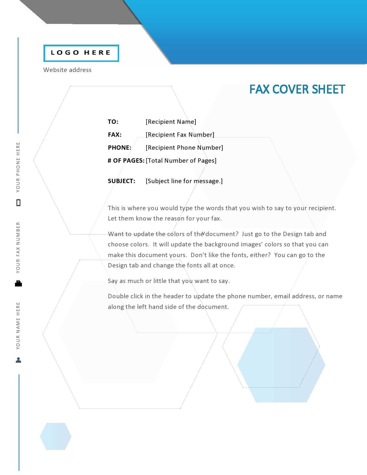 free fax cover sheet 42
