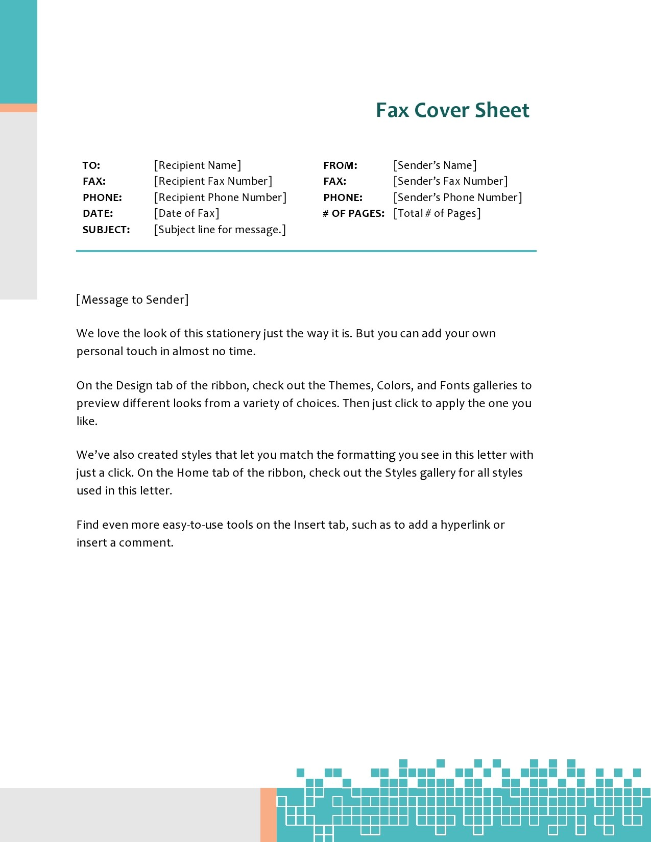 free fax cover sheet 48