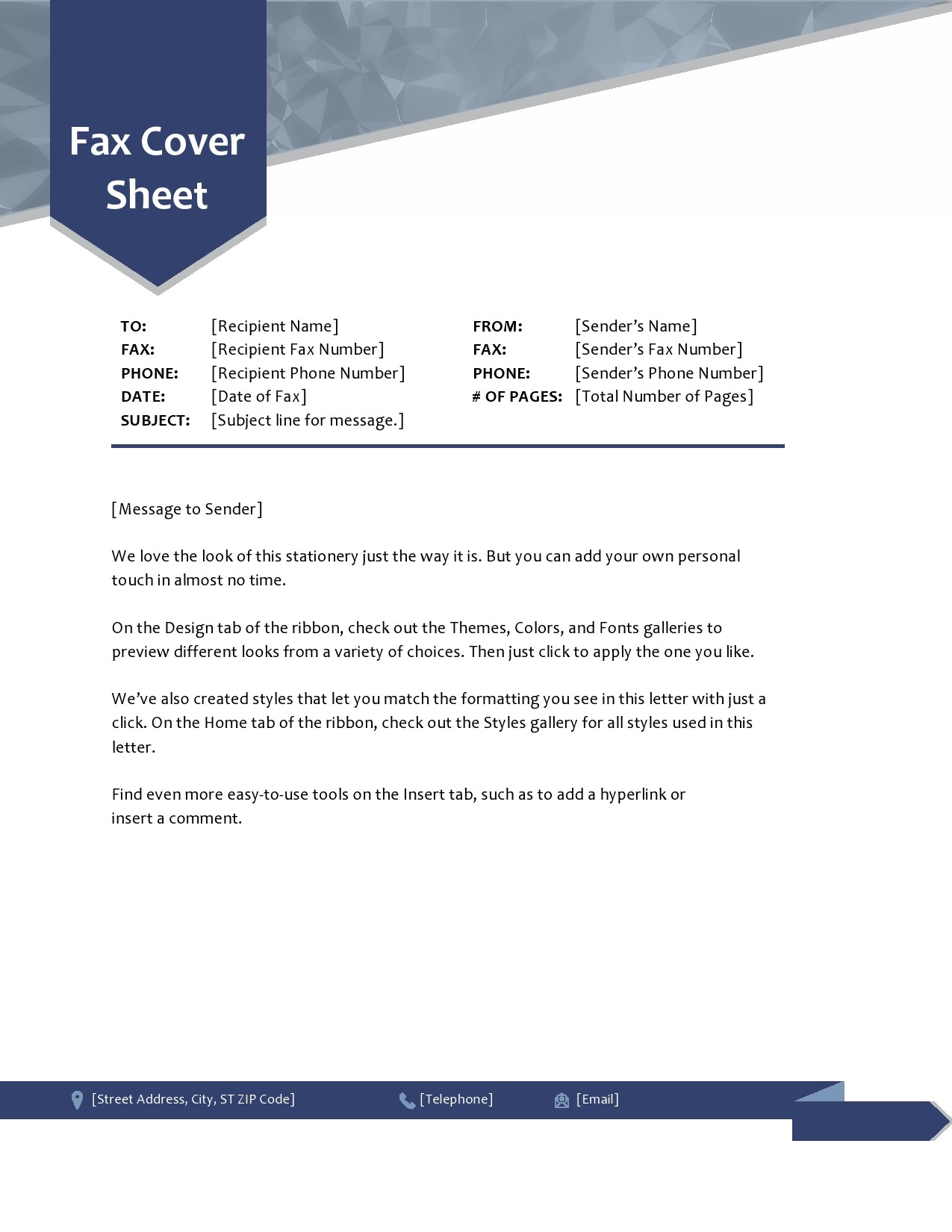 free fax cover sheet 50